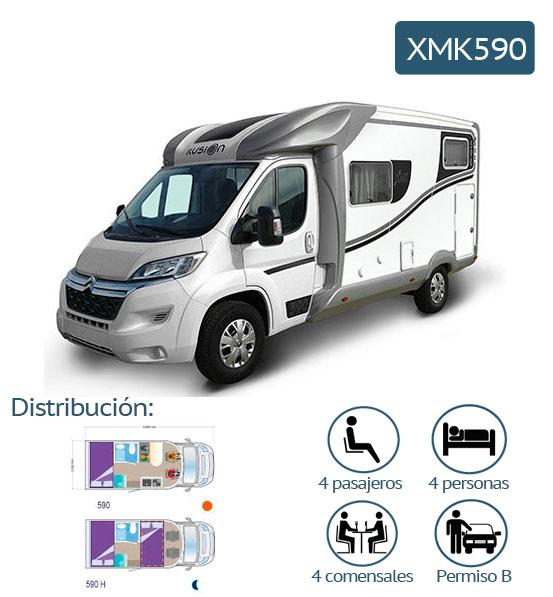 foto y caracteristicas de autocaravana xmk590