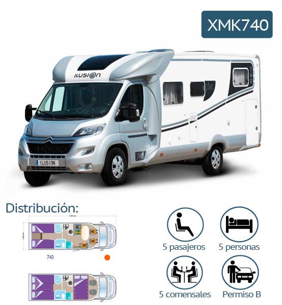 caracteristicas autocaravana XMK 740